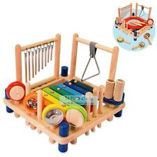 Wooden Melody Mix 8 Musical Instruments Kids Pretend & Play Toy & Gift