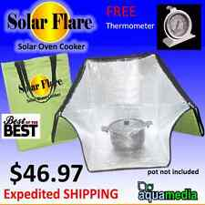 SolarFlare- Solar Oven Cooking/Baking Survival 10oz. chicken in 90min. +BONUS!