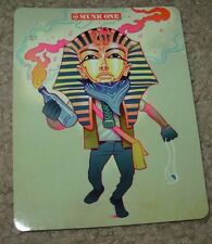 MUNK ONE Sticker PHAROAH from poster print Invisible Industries