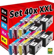 40x CHIP PATRONEN für HP-364-XL DESKJET 3070A 3520 3522 3524 OFFICEJET 4620 4622