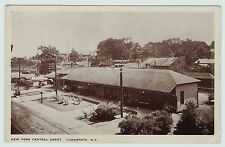 Orig Postcard NYC Depot Station - Canastota NY 1915 RR New York Central Railroad
