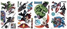 AVENGERS ASSEMBLE 28 Wall Decals Marvel Hulk Captain America Room Decor Stickers