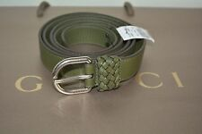 NWT GUCCI $325 MENS LEATHER WRAP BELT WITH OVAL BUCKLE SIZE 95 38 MADE IN ITALY
