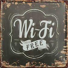 Qualité wifi free vintage metal tin sign bar pub shop wall taverne poster decor