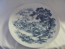 Enoch Wedgwood blue white dinner plate Countryside England
