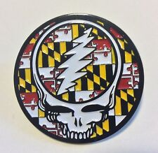 Grateful Dead Steal Your Face Maryland Flag Pin phish sts9 widespread moe. sci