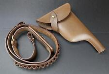 German Mauser C96 Bolo M1921 Leather Pistol Holster & Ammo Bandolier Belt