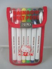 Vintage 1976 Hello Kitty Sanrio Rainbow Felt Pens Marker Set Unused Complete