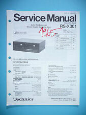 Service MANUAL PER TECHNICS rs-x301 cassette deck, ORIGINALE