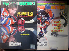 2 Diff. Wayne Gretzky Sports Illustrated Magazines 1982 & Sportsman of the Year