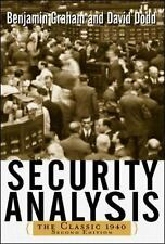 Security Analysis: The Classic 1940 Edition by Benjamin Graham Hardcover Book (E