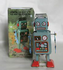 SPRING HEAD Tin Toy ROBOT Wind Up Clockwork