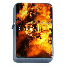 Windproof Refillable Oil Lighter Firefighter D1 America's Heros Fireman Rescue