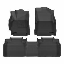 Aries 2993109 Black 1st & 2nd Row Floor Mat Liner for 2012-2014 Toyota Camry
