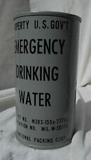USN USMC USAF F-4 Phantom Type Pilots Survival Kit Gray Can Of Drinking Water