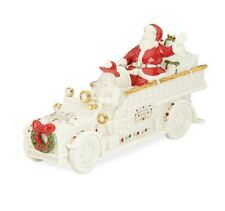 Lenox Mistletoe Park Village Fire Truck With Santa New