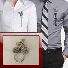 Male Cyclist PP-H Pewter Pin Brooch Drop Hoop Holder For Glasses,Pen,Jewellery
