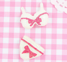 4 x Cute Bra & Pants Set Flatback Cabochon Embellishment Kawaii Craft Deco