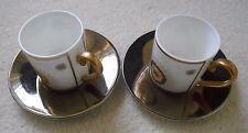 Villeroy & Boch 'Golden Garden' Espresso Cup & Matched Saucer x 2