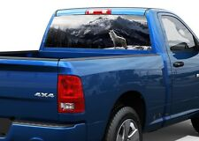 Wolf and beautiful mountain Rear Window Decal Sticker Pick-up Truck SUV Car