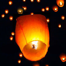 10X Chinese KongMing Sky Flying Lanterns Fire Light Wishing Lamp Wedding Party