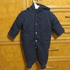 Boys infant Polo Ralph Lauren one piece snow suit/ bunting blue size 6M NWT $115