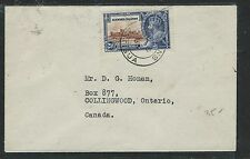 LEEWARD ISLANDS (P2805B) KGV SILVER JUBILEE 2 1/2D SINGLE FRANK TO CANADA 1935
