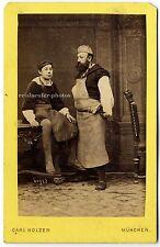 Berufsdarstellung, Bildhauer Steinmetze, Original-Cdv-Photo um 1881.