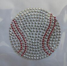 "#5075 2-5/8"" Baseball Rhinestone/Studs Iron On Transfer Hot Fix Baseball"