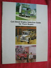 LATE 1970s CAT DIESEL ENGINE SELECTION GUIDE FOR 2 1/2 TON to SEMI TRUCKS
