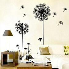 Hot ! Modern Black&white Dandelion Wall Sticker Removable Home Decoration B