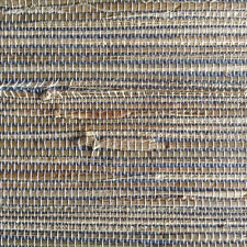 Wallpaper Grasscloth Blue Beige Natural Textured Brewster HY30270 Double Rolls