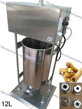 12L Electric Auto Spanish Donut Churrera Churros Maker Machine w/ Fryer & Filler
