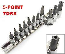 New 5-POINT TORX STAR TAMPER PROOF SECURITY BIT SOCKET SET