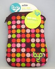 "BYO Go Go Netbook Sleeve 10"" Dots Zippered New"