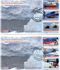 Chile 2008 2 FDC International Polar Year - Antarctic Research