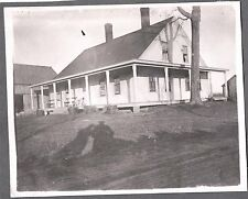 VINTAGE 1890 SHILLABER PINECROFT MASSACHUSETTS HOUSE FARM HUNTING DOG OLD PHOTO