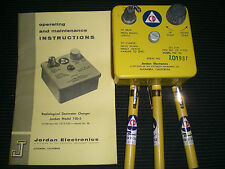 PREPPER CIVIL DEFENSE DOSIMETER PENS AND CHARGER