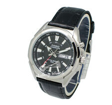 -Casio MTPE200L-1A Men's Leather Fashion Watch Brand New & 100% Authentic