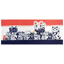 Lucky Cat Tenugui Japanese Hand Towel