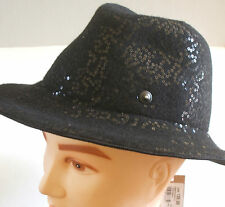 BNWT WOMENS DIESEL WOOL BLEND WITH SEQUINS TRILBY HAT RRP EUR120 SIZE MEDIUM