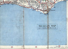 Eastbourne Bexhill Brighton 1920 orig. part map Seaford Hove Pevensey Newhaven