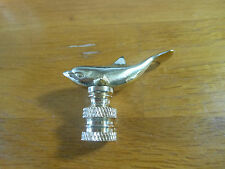 Distinctive Polished Brass Dolphin Lamp Finial
