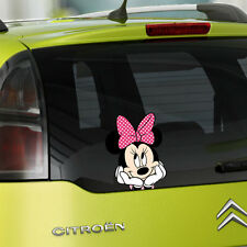 Minnie Mouse Full Colour Vinyl Decal Window Sticker Car Bumper Gift New 2014