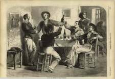 1858 French And English Sailors At Cherbourg Bonne Double Biere