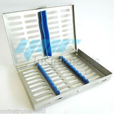 YNR® STERILIZATION CASSETTE RACK TRAY HOLD 10 DENTAL INSTRUMENTS AUTOCLAVE CE