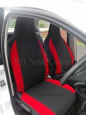 AUDI A4 / A6 / A8 CAR SEAT COVERS ANTHRACITE + RED BOLSTERS 2 FRONTS