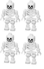 LEGO LOT OF 4 SKELETON MINIFIGURES SWIVEL ARMS - CASTLE PIRATE LOTR POTTER NEW