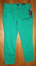 $110 NYDJ NOT YOUR DAUGHTER'S JEANS CLARISA MALACHITE STRETCH ANKLE JEANS US 14