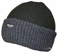 New Unisex Black & Grey Beanie Hat Quality Knit 40g Thinsulate Ski Winter Warm